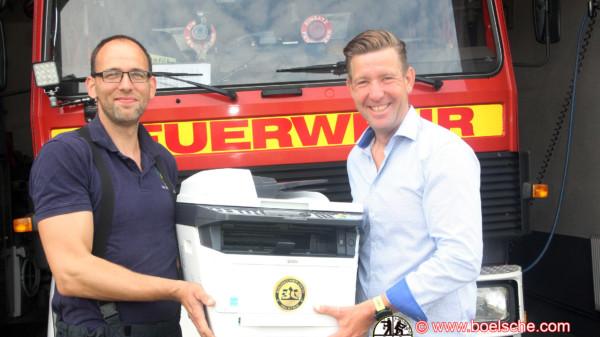 Spende eines Druckers an die Feuerwehr Raduhn